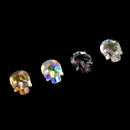 Rhinestones figured MIX Skull 4 colors 6x8 mm