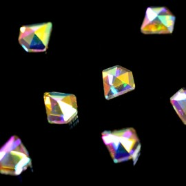 Diamond shaped rhinestones super-holography 5x5 mm