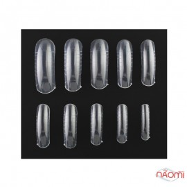 Tip Form Extension Of STARLET PROFESSIONAL NAILS With Marking, Transparent, 120 Pcs.
