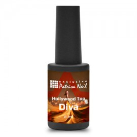 Hollywood-Top top coat without sticky layer Diva, 8 ml