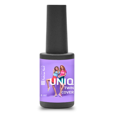 Uniq Twin Cover Base + Top, 8 ml