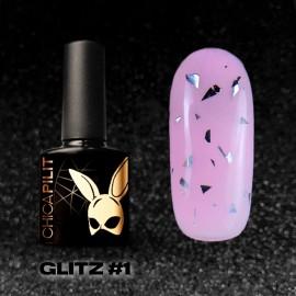 GLITZ #1 Silver Flakes