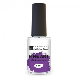 FINE ART Watercolor nail polish №A4 purple, 8 ml