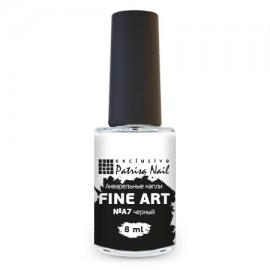 FINE ART Watercolor nail polish №A7 black, 8 ml