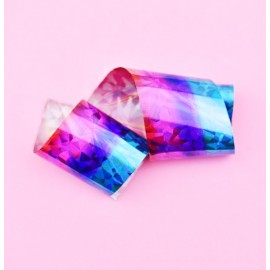 Nail casting foils №49 turquoise pink gradient holography