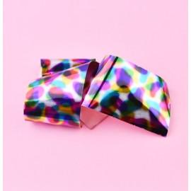 Nail casting foils №50 colorful gloss drops