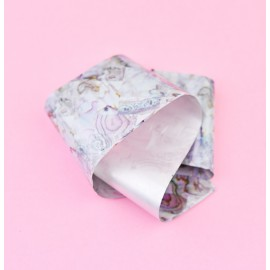 Nail casting foils №55 imitation stone gray gloss