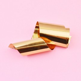 Nail casting foils №24 Gold gloss