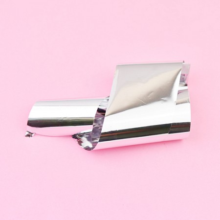 Nail casting foils №29 Silver gloss