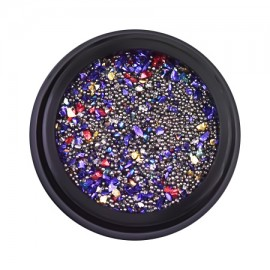 Nail art mix in a jar, little gems, pixie, caviar beads, 12 gr