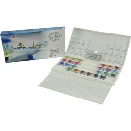 WHITE NIGHTS PROFESSIONAL Watercolours Paint Set Palette 24 X 2,5ml